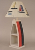 Boat Table Lamp in Cottage and Primary Stripe