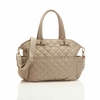 Bobby Quilted Diaper Bag in Cappuccino