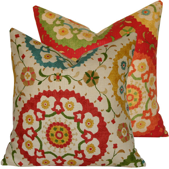 Boho fiesta large throw pillow rosenberryrooms com