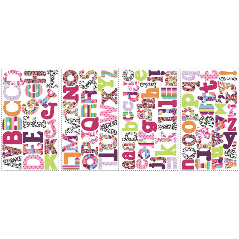 Boho Letters Peel & Stick Wall Decal - RosenberryRooms.com