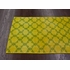 Bold Overdyed Trellis Rug in Yellow