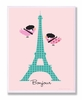 Bonjour Chickadees with Eiffel Tower Wall Plaque