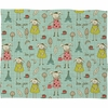 Bonjour Lapin Fleece Throw Blanket