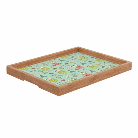 Bonjour Lapin Rectangle Tray