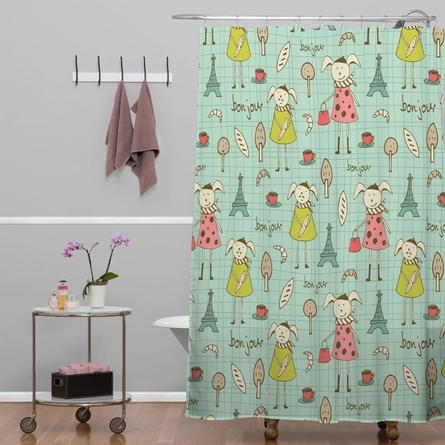 Bonjour Lapin Shower Curtain