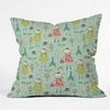 Bonjour Lapin Throw Pillow