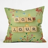 Bonjour Throw Pillow