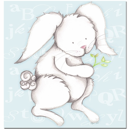 Bonny Bunny in Blue Canvas Reproduction