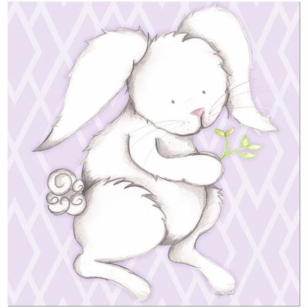 Bonny Bunny in Lavender Canvas Reproduction
