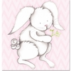 Bonny Bunny in Pink Canvas Reproduction