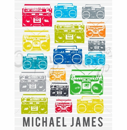 Boomboxes Canvas Wall Art