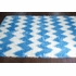 Borris Faux Sheepskin Chevron Rug in Blue