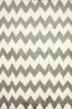 Borris Faux Sheepskin Chevron Rug in Gray