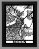 Boston Framed City Map