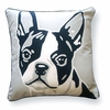 Boston Terrier Reversible Throw Pillow