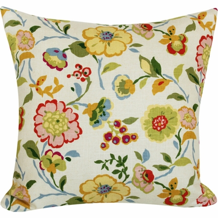 Bouquet Stripe Throw Pillow