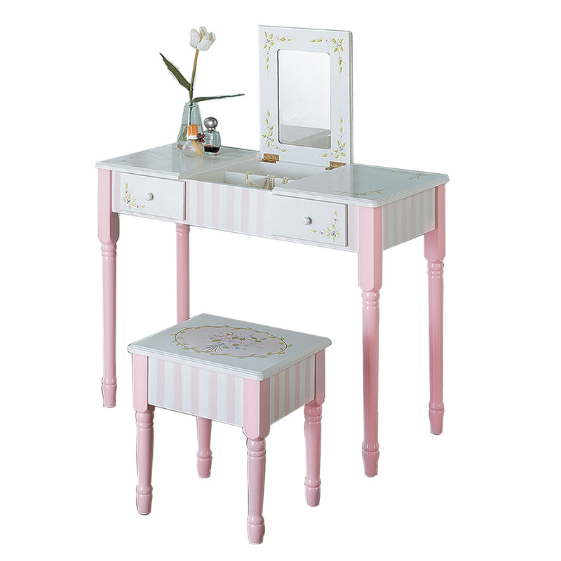 Bouquet Vanity Table And Stool Set Rosenberryrooms Com