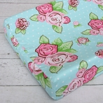 Boutique Rose Dot Changing Pad Cover