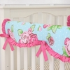 Boutique Rose Dot Crib Rail Cover