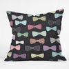 Bow Ties Throw Pillow