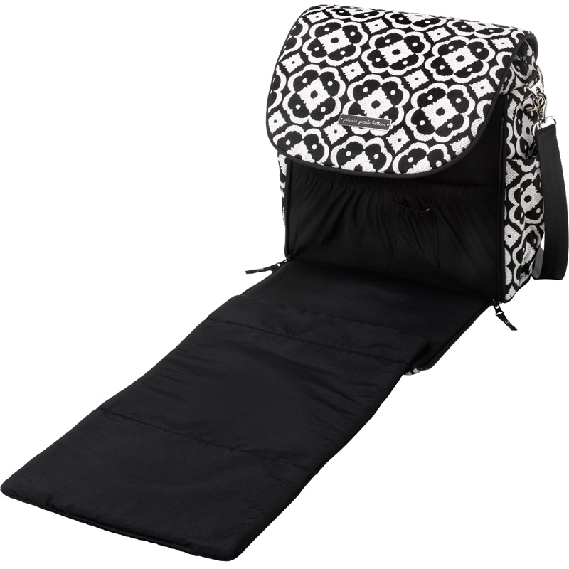 boxy backpack diaper bag licorice blossom by petunia pickle bottom. Black Bedroom Furniture Sets. Home Design Ideas