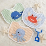 Boy Beach Buddies 3-Piece Bib Gift Set
