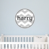 Boy Chevron Personalized Fabric Wall Decal