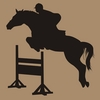 Boy Horse Jumping Chalkboard Wall Decal