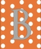 Boy Initial Personalized Dots Canvas Reproduction
