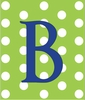 Boy Initial Personalized Striped Canvas Reproduction