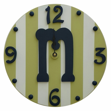 Boy Initial Wall Clock