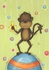 Boy Monkey Canvas Reproduction