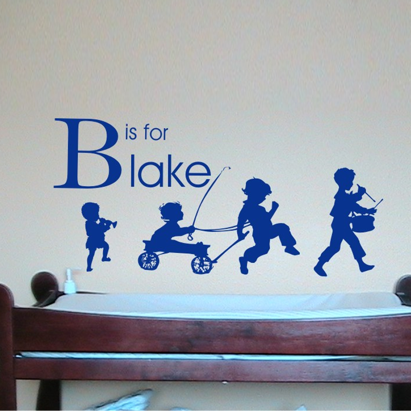 Boy Parade Personalized Wall Decal By Alphabet Garden Designs