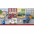 Boy's Vintage Street Scene Canvas Wall Art