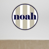 Boy Vertical Stripes Personalized Fabric Wall Decal