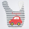 Boys Car Personalized Bib
