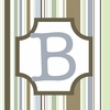 Boys Monogram Canvas Reproduction - B