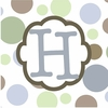 Boys Monogram Canvas Reproduction - H