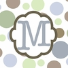 Boys Monogram Canvas Reproduction - M