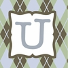 Boys Monogram Canvas Reproduction - U