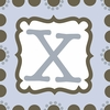 Boys Monogram Canvas Reproduction - X