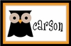 Boys Owl Personalized Placemat