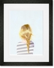 Braid Blonde Framed Art Print