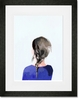 Braid Brunette Framed Art Print