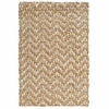 Braided Handspun Jute Herringbone Bleach and Natural Rug