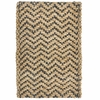 Braided Handspun Jute Herringbone Grey and Natural Rug