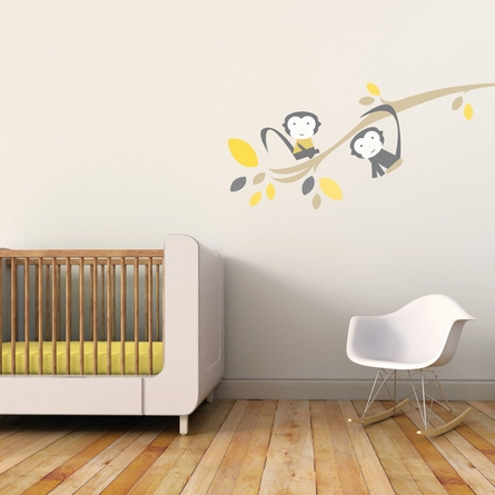 Branch with Monkeys Wall Decal