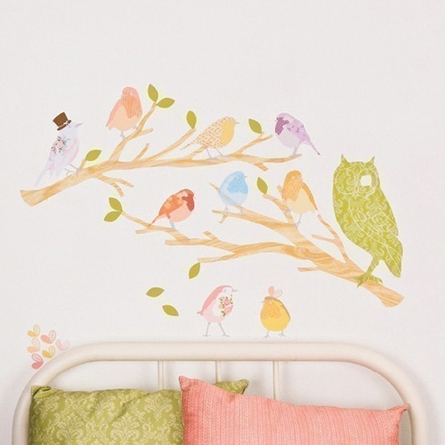Branches Light Fabric Wall Decals