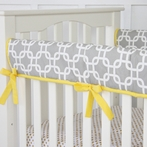 Bright Baby Gray Crib Rail Cover