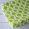 Bright Baby Green Changing Pad Cover